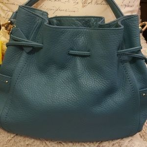 Cole Haan leather drawstring satchel